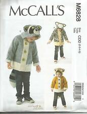 MCCALLS 6828 ADORABLE CHILDRES GIRLS BOYS ANIMAL COATSSEWING PATTERN