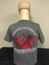 Arkansas Razorbacks Southern & Refined unisex adult t-shirt charcoal