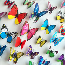 12 pcs 4 big 8 small PVC 3D Butterfly Tatoos Wall Sticker Home Decoration Decal