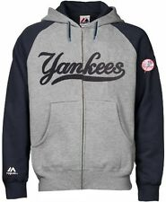 New York Yankees MLB Majestic Men's Full Zip Classic Hoodie Big & Tall Sizes