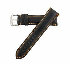 Hadley Roma Leather Contrast Stitch Watch Band Strap 22mm MS884
