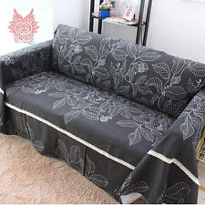 Home textile 100%cotton canvas sofa cover with lace patchwork Sofa towel SP1052