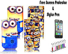 Despicable Me Minion Leather Wallet Holder Case Cover For Samsung Galaxy S4 Mini