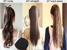Real Quality Drawstring Hair Ponytail Clip in Pony Tail Hair Extensions piece ts