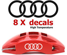 8 X Audi Rings #2 Brake Caliper Decals Stickers Graphics Emblem Logo Vinyl Car I