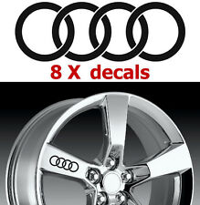 8 X Audi Rings #2 Wheels Decals Stickers Graphics Emblems Logo Vinyl Car I