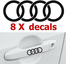8 X Audi Rings #2 Door Handle Decals Stickers Graphics Emblems Logo Vinyl Car I