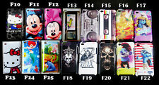 mickey minine Smurfs Kitty fish Record Hard Case cover For IPOD TOUCH 4 4TH GEN