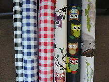 PVC VINYL OILCLOTH  TABLE  MATERIAL ALSO IDEAL FOR APRONS CRAFTS ECT