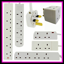 2 3 4 6 GANG WAY UK PLUG EXTENSION LEAD CABLE SOCKET CE MARKED MAINS SOCKETS