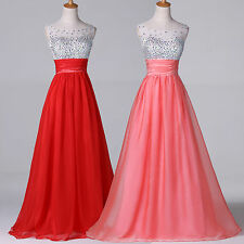 SEXY CHEAP Sleeveless Chiffon Ball Gown Pageant Wedding Evening Prom Party Dress