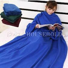 Home Fashion Creative Fleece Snuggie Robe Cloak Towel  Blanket With Sleeves