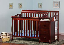 Dream on Me 3 in 1 Convertible Side Crib & Changer Twin Bed Nursery Baby Toddler