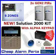 NEW!! BOSCH Solution 2000 Alarm System 2 x BlueLine Gen2 PIRs ALPHA KEYPAD