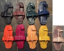 HANDMADE SIXTIES HIPPIE INDIAN TOE STRAP SANDALS 100% LEATHER - MEN, WOMEN, KIDS