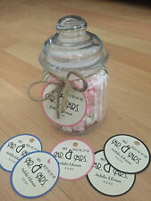 15 Personalised vintage/retro/rustic wedding circle tags favours thank you
