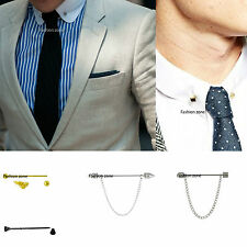 5.5cm Tie Pin Bar Collar Barbell Ball Mens Silver Gold Black For Suit Shirts etc
