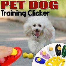 Dog Pet Puppy Cat Training Clicker Click Button Trainer Obedience Aid Wrist
