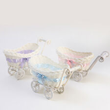 BABY PRAM SMALL HAMPER WICKER BASKET BABY SHOWER PARTY GIFTS XMAS PRESENT