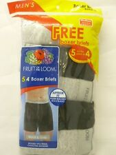 FRUIT OF THE LOOM Men's 5-Pack Boxer Briefs Assorted or BLK/GRY  Size S-XL NEW