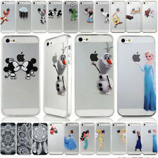 Disney Characters Cartoon Transparent Hard Cover Case For iPhone 5 5S 6 6 Plus