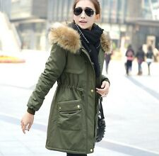 Plus Winter Women's Thick Parkas Real Fur Hooded Jackets Warm Coats фрак женский