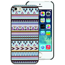 Blue and Purple Aztec Pattern Printed Hard Back Case for Apple iPhone Cover