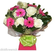 Fresh Flowers Delivered UK Rose & Gerbera Selection Florist Choice Bouquet