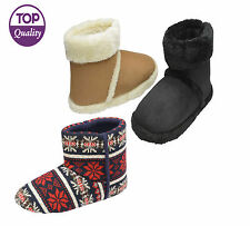 Mens Ankle Slippers Boots Dunlop Branded Warm Fur Cosy Winter Bootie Shoes Size