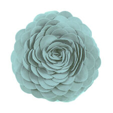 Chic Felt Flower Petal Filled Round Decorative Throw Pillow, Many Colors