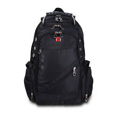 "Men Swiss Army Laptop Backpack Schoolbag Travel Casual Rucksack for 14-17""Laptop"