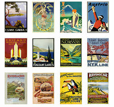 VINTAGE RETRO TRAVEL  Posters Old Style Home Art Print / Wall Decor Canvas Print