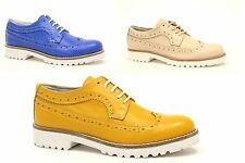 scarpe donna brogue inglesine francesine parigine sneakers leather made IN ITALY