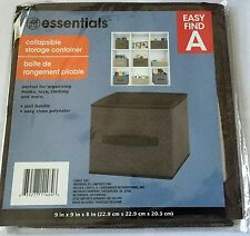 Storage Collapsible Fabric Box Folding Cube Closet Organizers Trunk Size 9 Home
