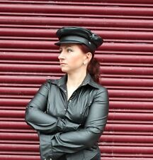 Soft Leather Biker Hat Muir Cap Military Old School Fetish Ledapol S M L