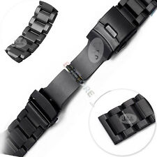 HOT 22mm WATCH BAND HEAVY SOLID STAINLESS STEEL DOUBLE LOCK BUTTERFLY BUCKLE