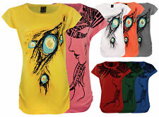 NEW LADIES WOMENS SHORT SLEEVE PRINTED TOP BLOUSE SUMMER T-SHIRT 6-14
