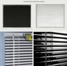 Aluminium Metal Venetian Blinds Trimable Easy Fit 25mm Slat Home Office All Size
