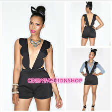 Fashion Sexy Women Shorts Strapless Bodysuit Nightclub Black Playsuits Jumpsuit