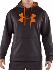 NWT UNDER ARMOUR Men's Armour® Fleece Storm Big Logo Hoodie 1232720 M XL Gray