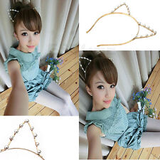 GRAU Silver/Golden Sexy Ear Cat Girl Head Band Beaded Fashion Hair Metal Band