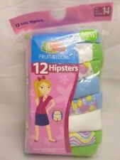 NEW 12-PACK GIRLS FRUIT OF THE LOOM HIPSTERS PANTIES- 6 Sizes Available  NEW