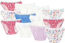 NEW 12 PACK GIRLS FRUIT OF THE LOOM COTTON BIKINI PANTIES- 6 Sizes available NEW