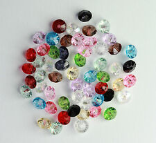 10g (Approx.200 pcs) Acrylic Transparent - Faceted Bicone  4 mm  (12 Colours) #6
