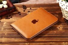 Brown Luxury PU Leather Book Smart Stand Case Cover for Apple ipad Air / Air 2