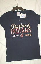 CLEVELAND INDIANS BRAND NEW WITH TAGS **LADIES T-SHIRT**