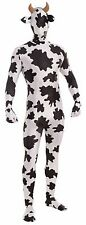 Disappearing Skin Suit Cow Animal Black White Adult Costume Morph Invisible New