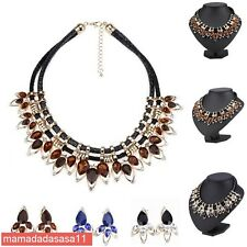 Hot Fashion Crystal Rhinestone Chain Pendant Necklace Chain With Dangler 42P