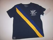 NEW POLO RALPH LAUREN navy blue short sleeve t shirt baby little boys 12 18 24 m