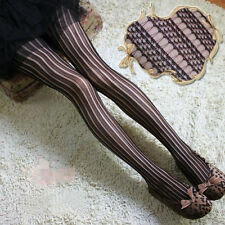 HOT Fashion Ladies Black Sexy Fishnet Pattern Jacquard Stockings Pantyhose Tight